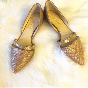 Ivanka Trump Gold pointy toe Itcree flats 8.5